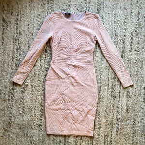 BEBE Long Sleeve Bodicon Dress